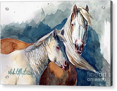 Cheyenne And Tripod Acrylic Print by Linda L Martin