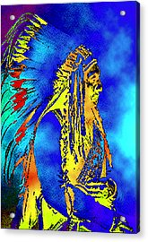 Cheyenne Chief Acrylic Print by Ben Freeman