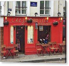 Chez Marie Restaurant, Montmartre, Paris Acrylic Print
