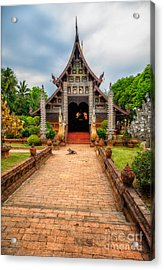 Chiang Mai Temple Acrylic Print by Adrian Evans
