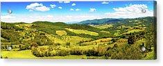 Chianti Rolling Hillside Panorama Acrylic Print