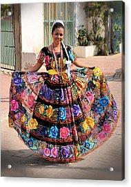 Chiapaneca Dress Acrylic Print