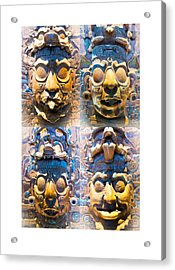 Acrylic Print featuring the photograph Chiapas Elders by John  Bartosik