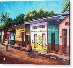 Chiapas Neighborhood Acrylic Print by Candy Mayer