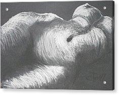 Chiaroscuro - Torso Acrylic Print by Carmen Tyrrell