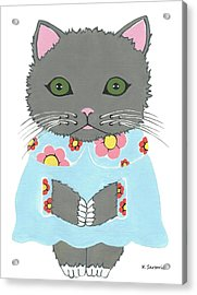 Chic Cat Acrylic Print by Kathleen Sartoris