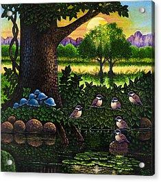 Chicadees Acrylic Print by Michael Frank