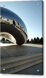 Chicago - Cloud Gate Reflection Acrylic Print by Dmitriy Margolin