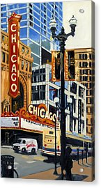 Chicago - The Chicago Theater Acrylic Print
