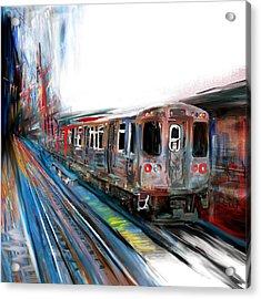 Chicago 211 1 Acrylic Print by Mawra Tahreem