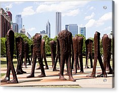Chicago Agora Headless Statues Acrylic Print by Paul Velgos