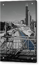Chicago Amtrak Acrylic Print