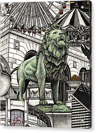 Chicago Art Institute Lion Acrylic Print