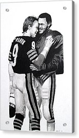 Chicago Bears Quarterbacks Acrylic Print