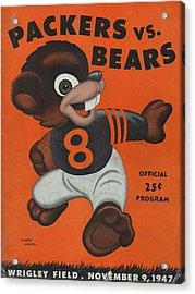 Chicago Bears Vintage Program 6 Acrylic Print by Joe Hamilton