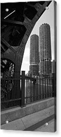 Chicago Bridge And Buildings Acrylic Print by Dmitriy Margolin
