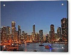 Chicago Bright Acrylic Print by Andrea Simon