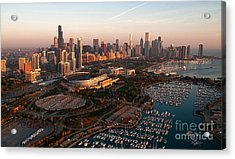 Chicago By Air Acrylic Print by Jeff Lewis