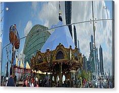 Chicago Carousel Acrylic Print by Andrea Simon