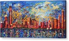 Chicago City Scape Acrylic Print