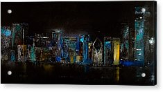 Chicago City Scene Acrylic Print by Michele Carter