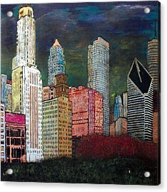 Chicago Cityscape Acrylic Print by Char Swift