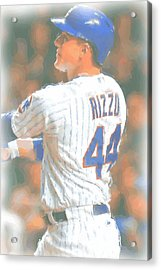 Chicago Cubs Anthony Rizzo 2 Acrylic Print by Joe Hamilton