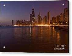 Chicago Dawn Acrylic Print by Sven Brogren