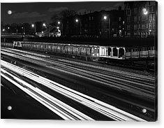 Chicago Evening Commute Acrylic Print by Steve Gadomski