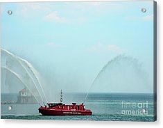 Chicago Fire Department Fireboat Acrylic Print