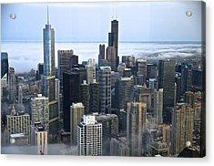 Chicago Fog Acrylic Print by Sheryl Thomas