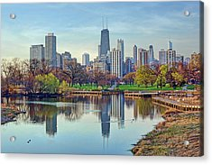 Chicago From Lincoln Park Acrylic Print