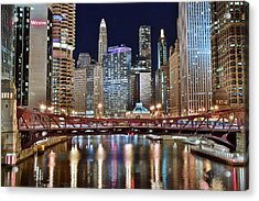 Chicago Full City View Acrylic Print by Frozen in Time Fine Art Photography
