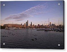 Chicago Harbor And Skyline Acrylic Print by Sven Brogren