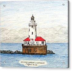 Chicago Harbor Lighthouse Acrylic Print by Frederic Kohli