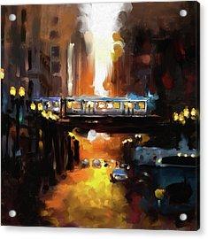 Chicago II 474 1 Acrylic Print by Mawra Tahreem