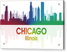 Chicago Il Acrylic Print by Angelina Vick
