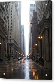 Chicago In The Rain 2 Acrylic Print