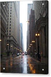 Chicago In The Rain 2 Acrylic Print by Anita Burgermeister