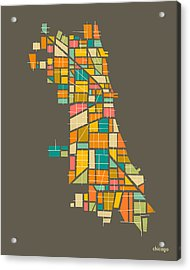 Chicago Acrylic Print by Jazzberry Blue