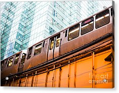 Chicago L Elevated Train  Acrylic Print