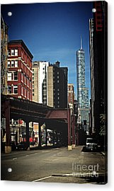 Chicago L Between The Walls Acrylic Print