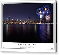 Chicago Lakefront Skyline Poster Acrylic Print by Steve Gadomski