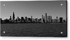 Chicago Lakeshore Skyline Acrylic Print by Miranda  Miranda