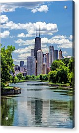 Acrylic Print featuring the painting Chicago Lincoln Park Lagoon by Christopher Arndt