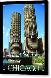 Chicago Poster - Marina City Acrylic Print