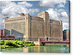 Acrylic Print featuring the painting Chicago Merchandise Mart by Christopher Arndt