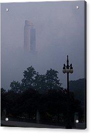 Chicago Mist Acrylic Print by Anna Villarreal Garbis