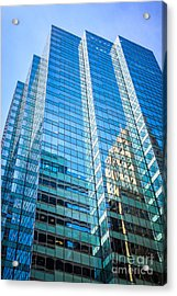 Chicago Modern Glass Office Building Architecture Acrylic Print by Paul Velgos