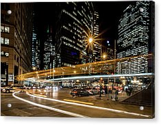 Chicago Nighttime Time Exposure Acrylic Print